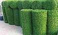 Зеленый забор из искусственной травы в рулонах (Турция)., фото 2