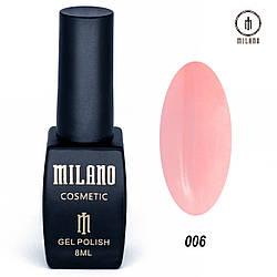 "Гель лак ""Milano"" 006, 8мл"