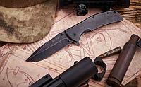 Нож складной, гибрид выкидного и обычного складного ножа, полуавтомат, с металлической рукояткой, прочный, фото 1