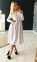 Строгое красивое платье на пуговицах, фото 1