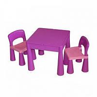Детский стол + 2 стула Tega MAMUT MT-001 899 light violet/dark violet