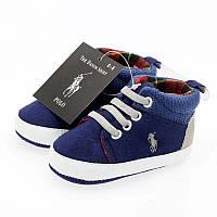 Текстильные пинетки кроссовки Ralph Lauren, фото 1