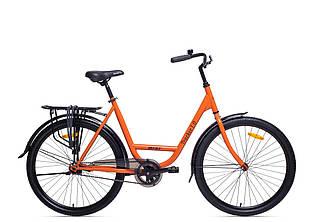 """Велосипед AIST Tracker 1.0 26"""" (Помаранчевий )/ ЛЕЛЕКА / дорожній / міський / байк сіті"""