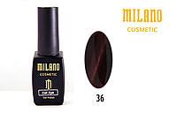 Гель-лак Milano Кошачий глаз 36, 8 мл