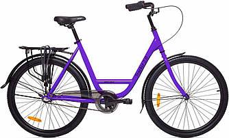 """Велосипед AIST Tracker 2.0 26"""" (Фиолетовый ) Shimano Nexus 3/ AIST / дорожный / городской / сити байк"""