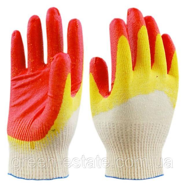 перчатки хб с латексным обливом