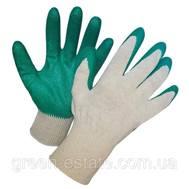 перчатки х б обливные латекс