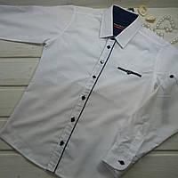 ✅Рубашка белая для мальчика Школьная рубашка Размеры 140