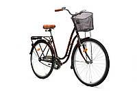 """Велосипед женский AIST TANGO  1.0 28"""",с корзиной, КОРИЧНЕВЫЙ белорусский велосипед"""
