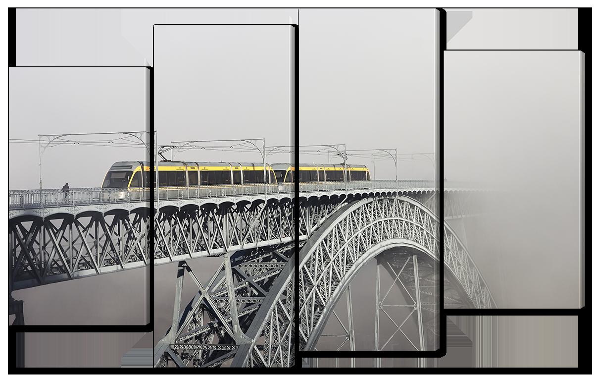 Модульная картина Interno Холст Мост в тумане 126x77см (R1146L)