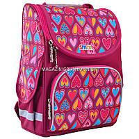 """Рюкзак школьный каркасный Smart PG-11 """"Hearts Style"""", фото 1"""
