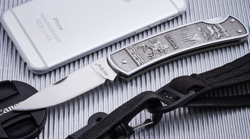 Нож складной цельнометаллического исполнения и классического дизайна, стойкий к ржавчине, компактный