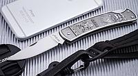 Нож складной цельнометаллического исполнения и классического дизайна, стойкий к ржавчине, компактный, фото 1
