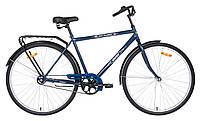 Велосипед АИСТ 28-130 / AIST City classic /Синий /Вареная рама / Мужской ,дорожный, городской (Толстая рама)