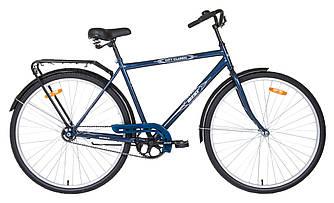 Велосипед АІСТ 28-130 / AIST City classic /Синій /Варена рама / Чоловічий ,дорожній, міський (Товста рама)