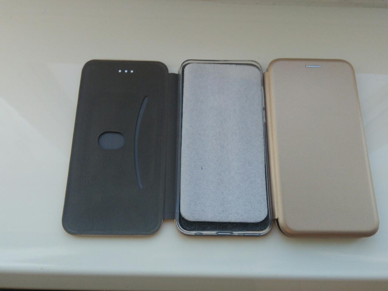 Чехол- книга Premium для Samsung A70 2019 (золот.)
