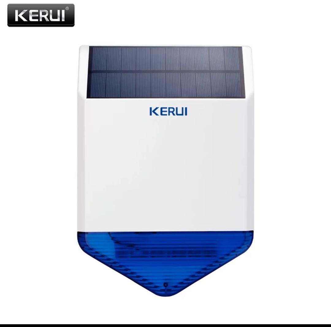 Бездротова Сирена зовнішня вулична на сонячній батареї wireless Kerui SJ1 solar 433Mhz для сигналізації