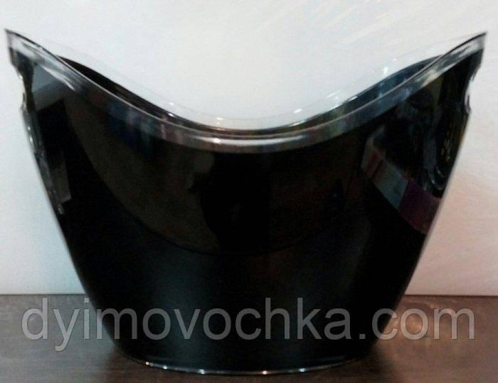 Чаша для шампанского пластиковая овальная EM0646Empire, 7000 мл, цвет черный