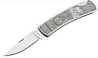 Нож складной  цельнометаллический, небольшого размера и классического дизайна, прочный и компактный, фото 1