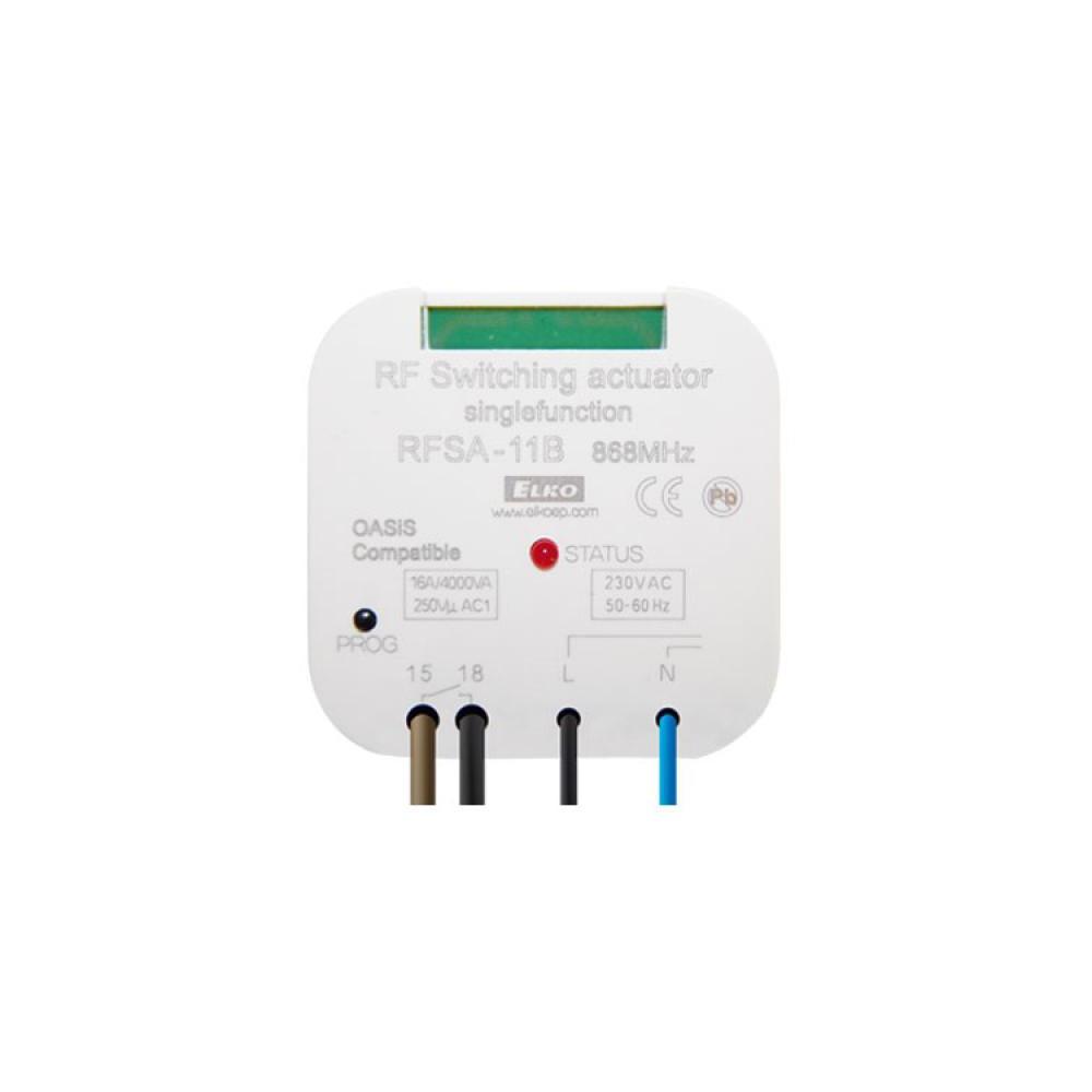 Одноканальное беспроводное реле iNELS RFSA-11B/230 V