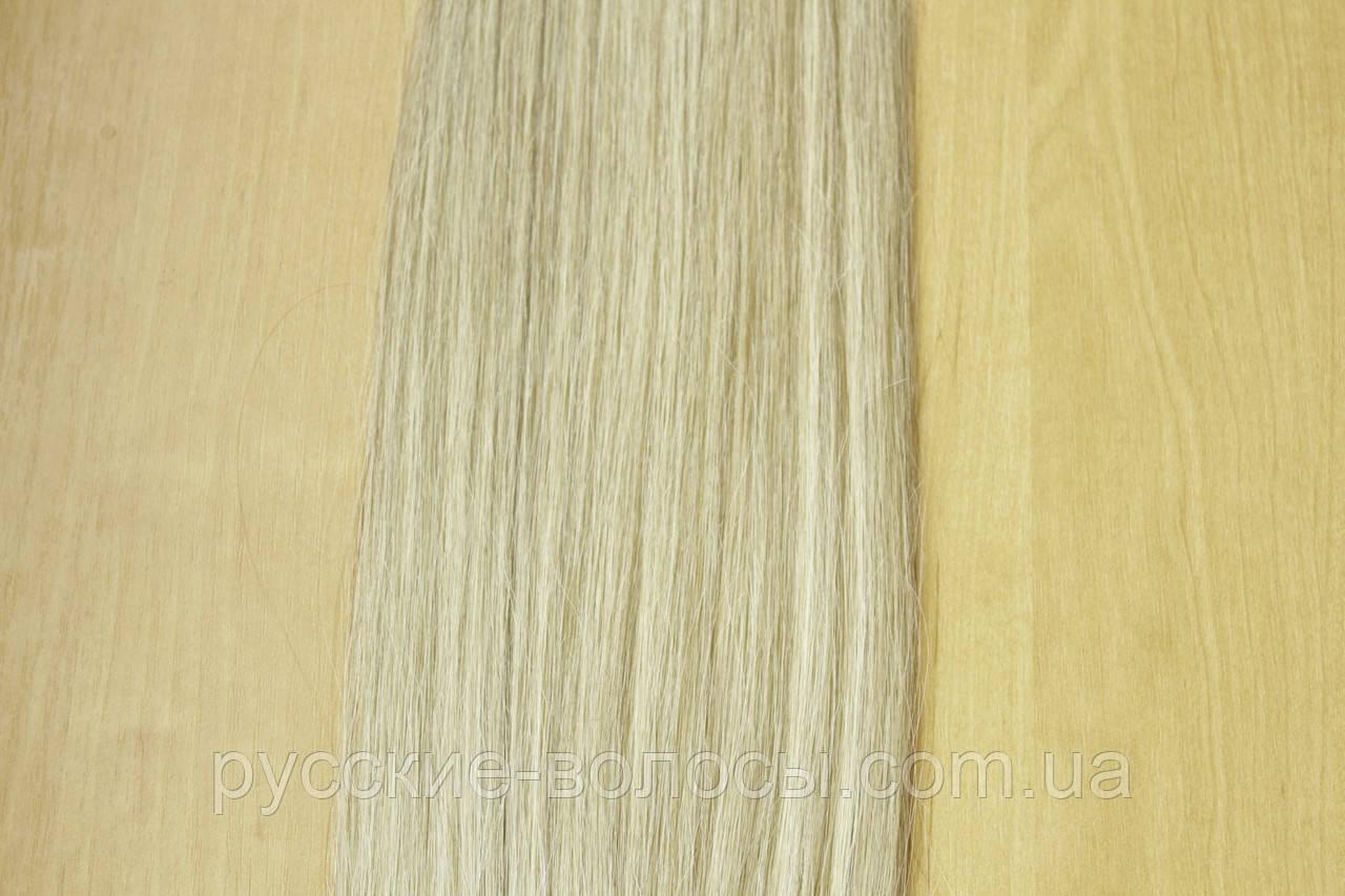 Натуральный хвост на ленте из славянских волос премиум