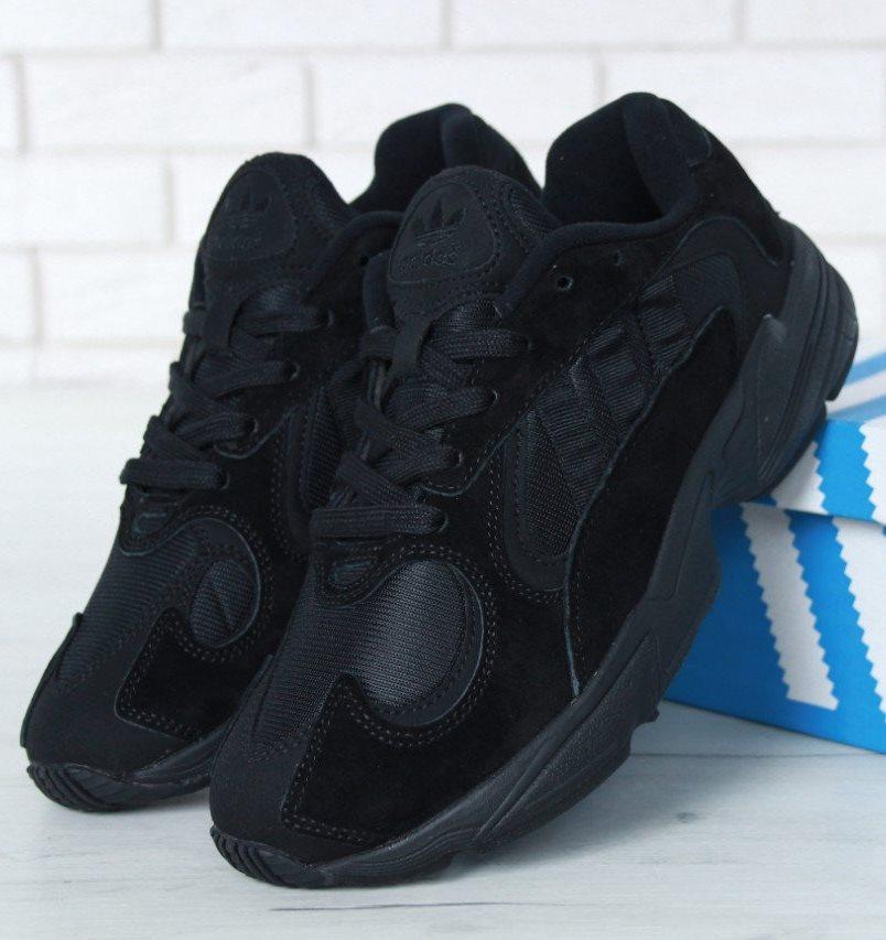 Мужские кроссовки Adidas Yung 1 Black (Адидас Янг 1)