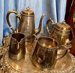 Набор  Посеребренный Чайно-Кофейный 19 век