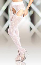 Колготки - Crotchless Tights 5505, white