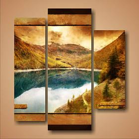 """Модульна картина """"Гори і озеро"""""""