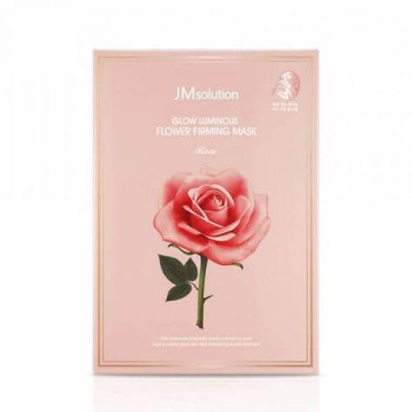 Тканевая маска с экстрактом дамасской розы JMsolution Glow Flower Firming Mask Rose 30 30 мл