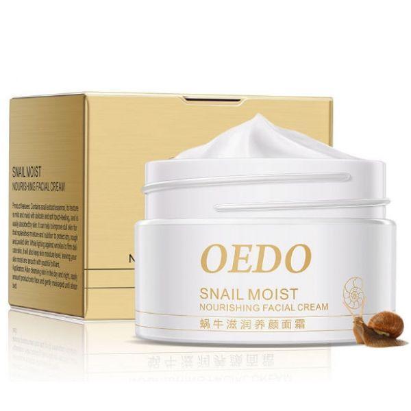 Питательный крем для лица OEDO Snail Moist Nourishing Facial Cream с экстрактом секрета улитки  40 г