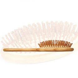 Массажная расческа для волос BLUEZOO из натурального бамбука 1 шт