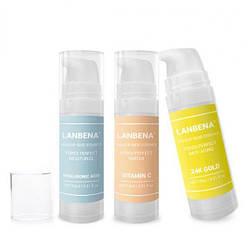 База под макияж для лица LANBENA makeup base essence с гиалуроновой кислотой и 24К золотом  15 мл