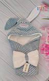 Детский конверт на выписку. Зайка. Капюшон на змейке. Размер: 80Х80 см., фото 3