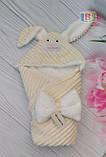 Детский конверт на выписку. Зайка. Капюшон на змейке. Размер: 80Х80 см., фото 4