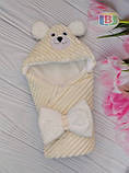 Детский конверт с капюшоном и ушками. Мишка. Пять цветов. Размер конверта: 80Х80 см., фото 2