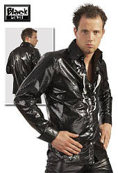 Глянцевая рубашка - Lack Herren Hemd, black / XXL