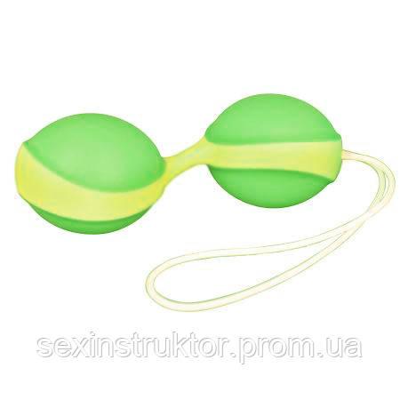 Вагинальные шарики - Amor Gym Ball Duo, зеленый/желтый