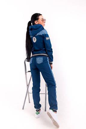 Стильный молодёжный спортивный костюм из джинса С М Л, фото 2
