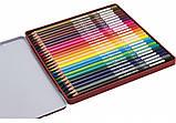 """Карандаши цветные """"Premium"""", 24 цвета, трехгранные, в металлической коробке, фото 2"""