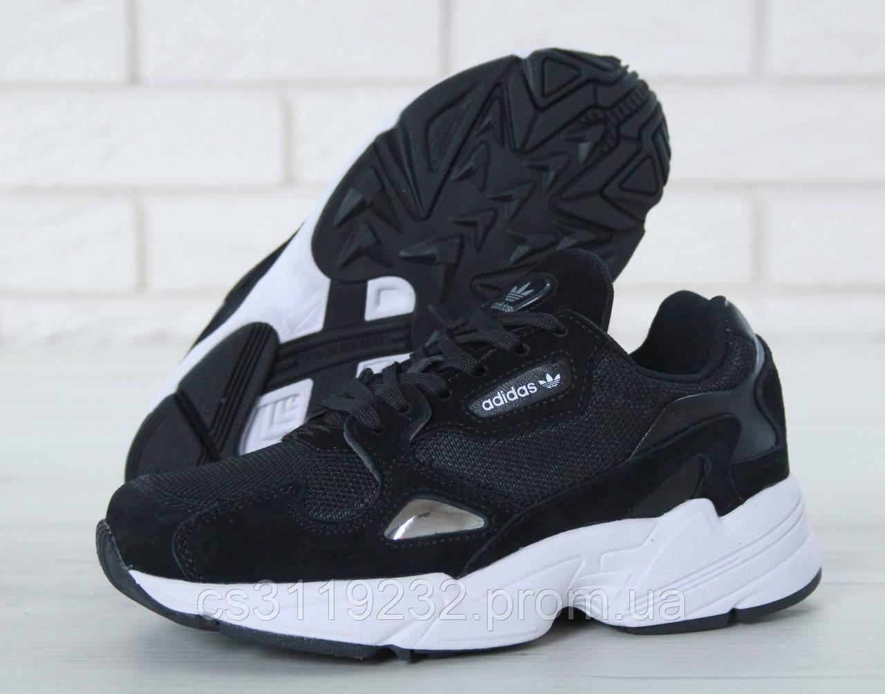 Женские кроссовки Adidas Falcon (черные)