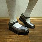 Школьные трендовые туфли на платформе девочкам, р. 30, 32, 33, 37. Серебро, фото 2