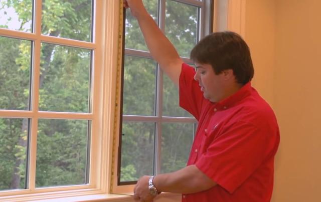 Римские шторы своими руками ― замер высоты окна