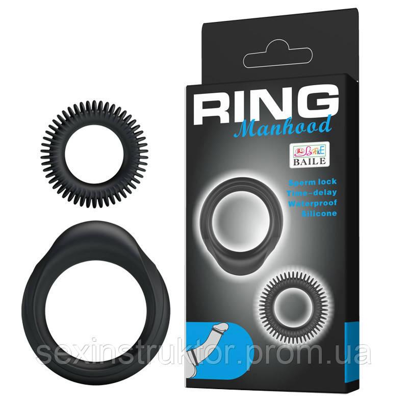 Эрекционные кольца - Ring Manhood 2x Rings Black