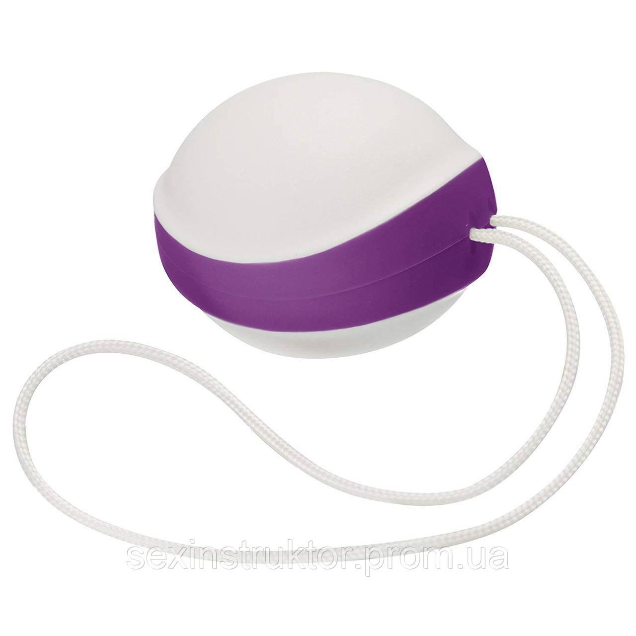 Вагинальный шарик - Amor Gym Balls Single, белый/фиолетовый