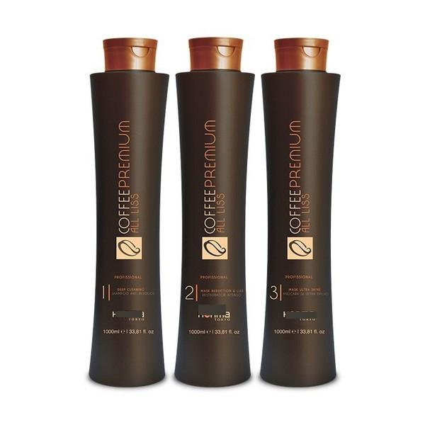 Набір для кератинового випрямлення Coffee Premium (Хонма Токіо Кофе Преміум) 3х1000 мл