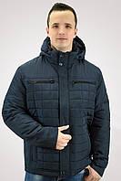 Темно-синяя мужская куртка демисезонная осенняя (48-56р)