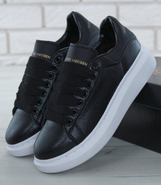 Женские кроссовки Alexander McQueen Oversized Sneakers Black