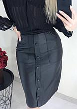 """Модная юбка женская  из кожзама """"Sharm"""" В И"""