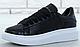 Женские кроссовки Alexander McQueen Oversized Sneakers Black, фото 2